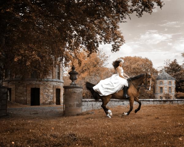 Trash the dress wedding Horse photographer Ireland Professional Ni Riain Fine Art Equine Photography