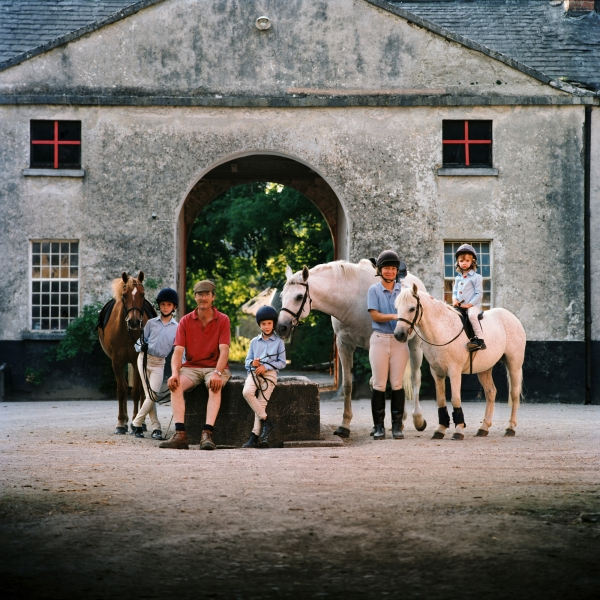 Faith Ponsonby and Peter Family portrait Horse photographer Ireland Professional Ni Riain Fine Art Equine Photography